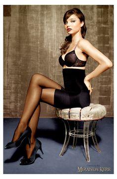 Miranda Kerr in black pantyhose Nylons, Black Pantyhose, Black Tights, Pantyhose Heels, Beautiful Lingerie, Sexy Lingerie, Pretty Lingerie, Lingerie Models, Bodies