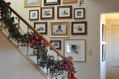 Great way to display pics of the kids and family over the years, use empty wall space and not clutter surfaces with frames.
