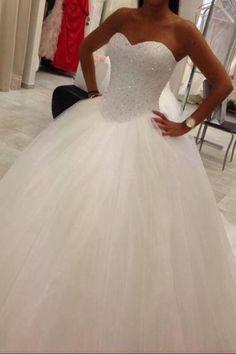 Wonderful Perfect Wedding Dress For The Bride Ideas. Ineffable Perfect Wedding Dress For The Bride Ideas. Tulle Wedding, Dream Wedding Dresses, Bridal Dresses, Wedding Gowns, Bridesmaid Dresses, Prom Dresses, Ivory Wedding, White Quinceanera Dresses, Luxury Wedding