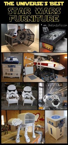 12 Awesome Star Wars Inspired Furniture Pieces - Star Wars Paint - Ideas of Star Wars Paint - A collection of Star Wars Furniture and home decor. From Tie Fighters and X-wings to Boba Fett Storm Troopers and this collection has it all! Star Wars Decor, Theme Star Wars, Star Wars Christmas Decorations, Star Wars Crafts, Star Wars Toys, Diy Christmas, Star Wars Party, Star Wars Furniture, Furniture Decor