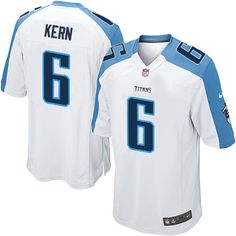 Nike Limited Brett Kern White Men's Jersey - Tennessee Titans #6 NFL Road