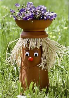 It's your imagination and personal artistic skills that make your clay flower pot crafts come alive but everybody need every now and then a little bit......