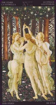 The Golden Botticelli Tarot was created by the talented Atanassov in the style of the Italian Renaissance artist, Botticelli, who is most famous for the Birth of Venus. The 78 cards are fully illustrated and have small gold elements....