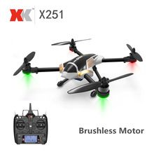 XK X251 Brushless Motor 2.4G 4CH 6 Axle 3D Flips RC Quadcopter RTF With Remoter Controller X7 Transmitter