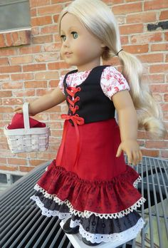 This outfit has been made to fit 18 dolls such as American Girl, Gotz, Battat, Madame Alexander, Journey Girls and more.    American Girl Caroline