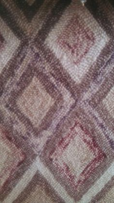 This is a rug...love the colors for a blanket.  Maybe granny squares? Taupe, cream, verigated burgundy...