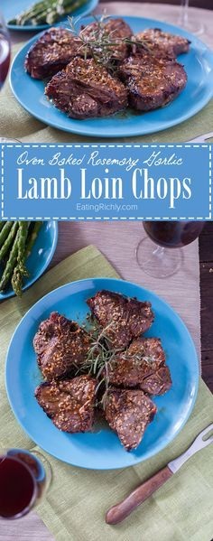 Lamb loin chops are marinated in rosemary, garlic, and lemon juice, then baked in the oven for an easy lamb chops recipe that cooks in about 15 minutes. Perfect for a stress free Easter! Part of #MiniChefMondays on EatingRichly.com
