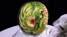 watermelon fruit thai wedding inspiration carving