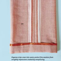 Make Padded Seams To Prevent Seam Allowance Impressions (Threads)