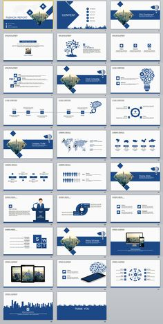 29+ Blue fashion report PowerPoint templates on Behance
