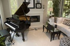 Check out these 27 beautiful living rooms with a piano. Most showcase a grand or baby grand piano. Check out the many different living room styles and sizes that feature a piano.