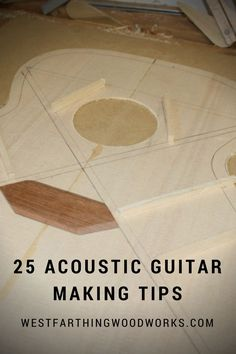 Guitar making tips are a great place to start for beginning builders, and they can give you a great head start. The firs tip for making a guitar is...