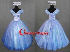 Cinderella Dress, Cinderella Costume, Cinderella 2015 Cosplay Costume For Girls Adult dress by RedstarCosplay on Etsy https://www.etsy.com/listing/231556070/cinderella-dress-cinderella-costume