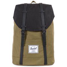 80cb731ccf27 Herschel Supply Co. Retreat Backpack - Army Black Herschel Supply Co