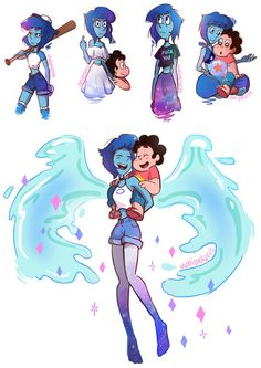 See more 'Steven Universe' images on Know Your Meme! Steven Universe Lapis, Steven Universe Wallpaper, Steven Universe Drawing, Steven Universe Funny, Universe Images, Universe Art, Steven Universe Personajes, Steven Universe Characters, Steven Univese