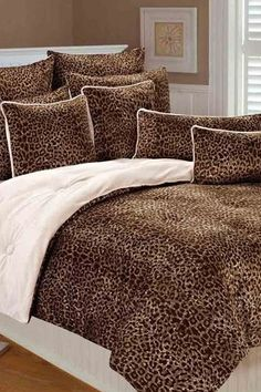 snow leopard bedding set i want this bedroom d