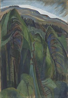 Emily Carr Forest Landscape, oil on wove paper, x cm Forest Landscape, Abstract Landscape, Landscape Paintings, Abstract Trees, Landscapes, Emily Carr, Canadian Painters, Canadian Artists, Group Of Seven Paintings