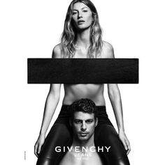 Gisele Bündchen e Cauã Reymond juntos na campanha da Givenchy