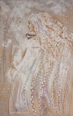 Pastel painting by Annet Loginova - Art Kaleidoscope Botanical Illustration, Illustration Art, Weaving Art, Angel Art, Stone Painting, Traditional Art, Les Oeuvres, Illustrators, Fantasy Art