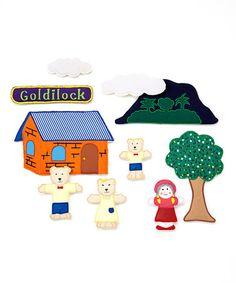 'Goldilocks' 2-D Plush Toy Set #zulily #zulilyfinds