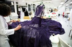 Dior in the making...I want this, I adore the color...stitch one up for me please.