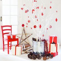 Ya está llegando la Navidad. ¡Acá una buena idea para darle un look Nórdico a tu árbol!