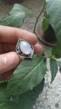 chalcedony ring minimalist silver ring labradorite ring jasper ring moonstone ring sterling silver ring dainty silver ring Dome ring