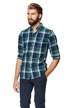 Chateau Indigo Madras Check Fitted Button Down Shirt Perfect Man, Shirt Outfit, Indigo, Button Down Shirt, Men Casual, Plaid, Fitness, Mens Tops, Shirts