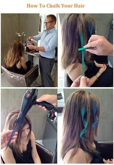 How To Chalk Your Hair  ... Let's see - this could be a cool way to jazz up any costume!  And it's not permanent *whew*~