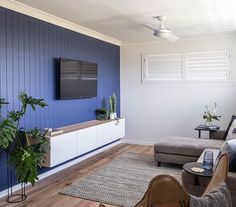 VJ panelled feature wall in modern home – Media Room İdeas 2020 Timber Feature Wall, Tv Feature Wall, Feature Wall Living Room, Living Room Tv, Living Spaces, Tv Wall Panel, Wall Behind Tv, Hamptons Living Room, Family Room Colors