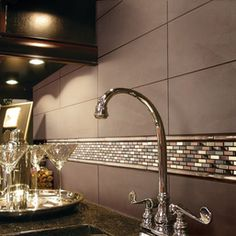 This Backsplash Daltile Urban Putty X Gloss Subway Tiles In A