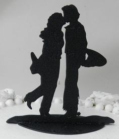 country Cowboy Cowgirl Western Kiss Hat Boot Wedding Cake topper ranch. $39.99, via Etsy.