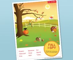 Fall theme I spy - great for practicing positions!