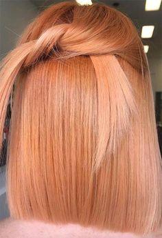 67 Pretty Peach Hair Color Ideas: How To Dye Your Peach Hair # Fashionacces . - 67 Pretty Peach Hair Color Ideas: How To Color Your Peach Hair - Peach Hair Colors, Ombre Hair Color, Hair Color Balayage, Peach Hair Dye, Hair Orange, Burgundy Hair, Brown Hair, Gray Hair, Red Blonde Hair