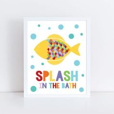 kids bathroom art set - sea themed prints - colourful kids decor, childrens art wash your hands flush brush splash, shark octopus fish whale Boys Bathroom Decor, Bathroom Wall Art, Painting For Kids, Art For Kids, Manners For Kids, Floral Shower Curtains, Woodland Decor, Unicorn Gifts, Nursery Prints