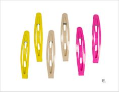 Glossy Solid Clip Set