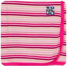 KicKee Pants | Print Swaddling Blanket Girl Forest Stripe