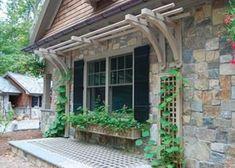 pinterest trellis around door - Google Search