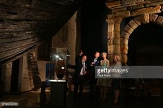 King WillemAlexander and Queen Maxima of the Netherlands visit the Batavia Gallery with Museum director Diana Jones and Curator Michael McCarthy at...