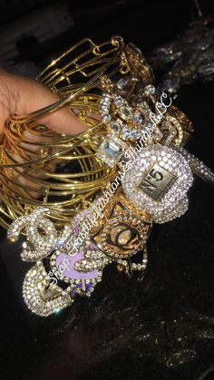 Bangles silver and gold for Sale in Palm Beach Gardens, FL - OfferUp Bangle Bracelets With Charms, Pearl Bracelet, Bangles, Arm Candy Bracelets, Arm Party, Alex And Ani, Cute Jewelry, Jewelry Accessories, Sneaker High