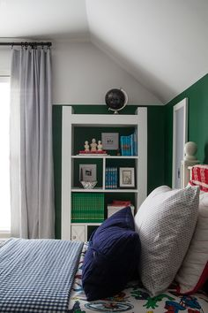 A Boy's Bookcase and
