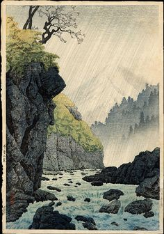 "Hiroaki, Takahashi (1871-1945), ""The Foothills of the Mountains, Atagoyama."""