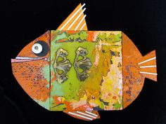 """""""Prehistoric Goldfish""""   By Goodwill Art Studio & Gallery artists, Charles Berry and Sharon Springer"""