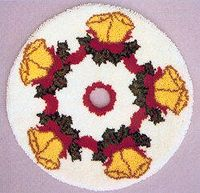 Bells Tree Skirt 34 Round Kit Comes Complete With Stamped 33 Mesh Latch Hook