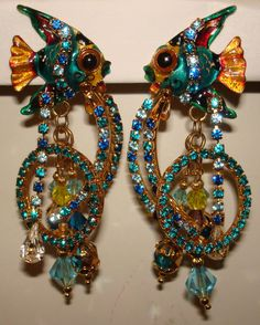 """""""Lunch at the Ritz"""" is what these are marked according to the eBay seller. States they're vintage, but I've never heard of that brand as a vintage jewelery maker, but... who cares? These are effing fab!"""