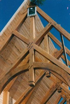 Timber Frame Construction: Timber Frame Homes, Timber Frames, Oak Framed Buildings, How To Build A Log Cabin, Framing Construction, Timber Architecture, Joinery Details, Timber Structure, Roof Trusses