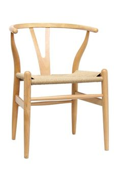 Natural Wood Wishbone Y Chair - Natural by W.I. Modern Furniture on @HauteLook $179.00