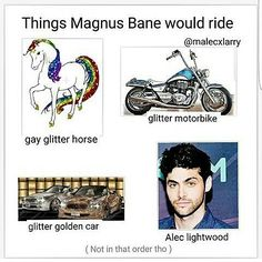 Wow one of these isn't like the others<<<yeah, I mean, why have the glitter car if you have the motorcycle!