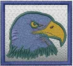 Free Eagle Head Embroidery Design | AnnTheGran
