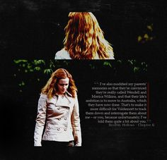 Hermione protecting the ones she loves